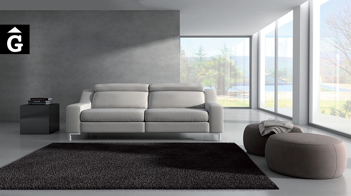Sofà de pell soft Oki de MORADILLO by Mobles Gifreu.