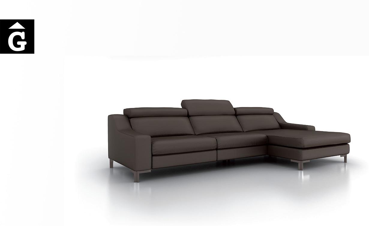 Sofà chaiselongue Oki black Moradillo by MOBLES GIFREU