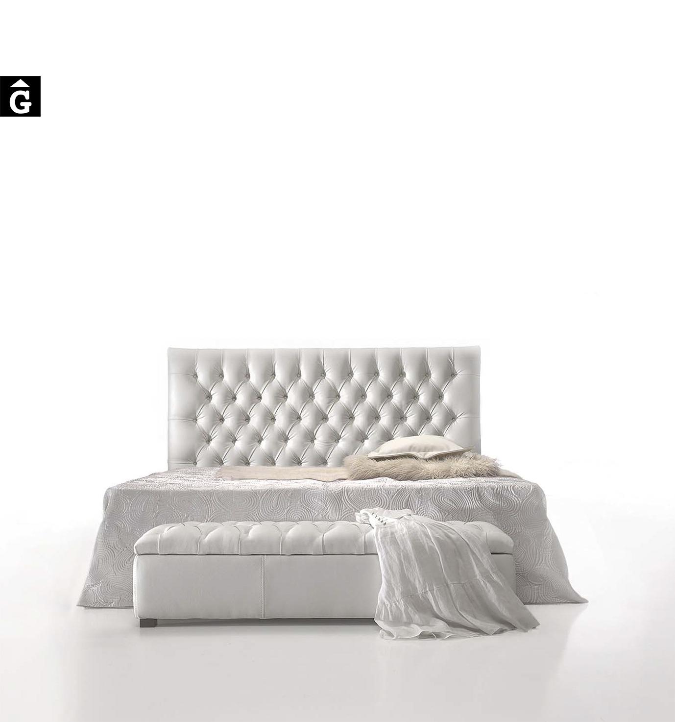 MORADILLO BY MOBLES GIFREU BEDS LLIT TAPISSAT CAPITONÉ GIRONA