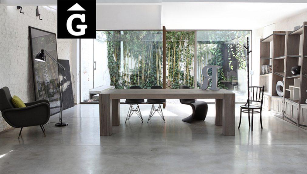 Brookling taula massissa molt gran forta rústica moderna càlida contrast molt bona