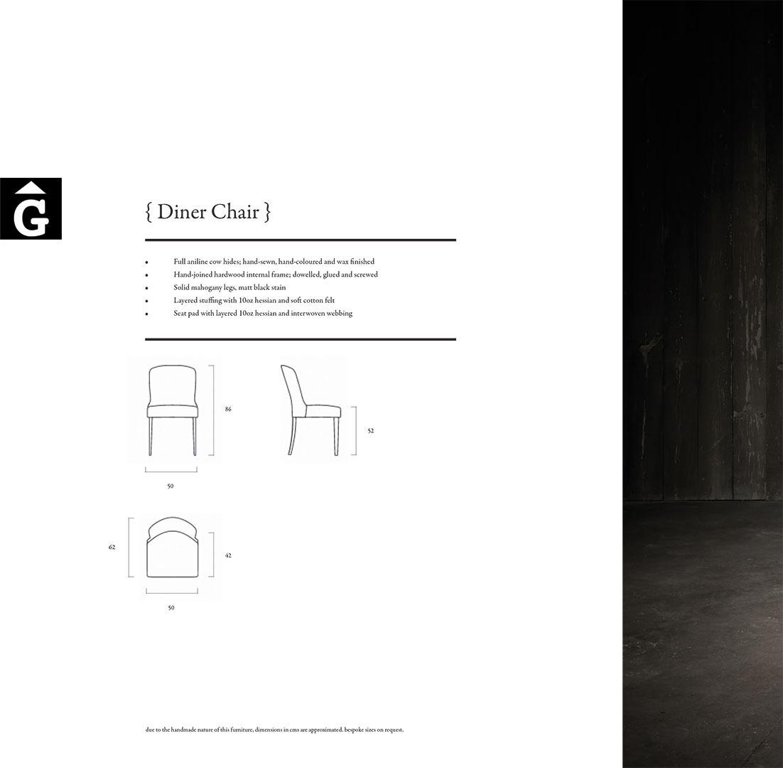 diner chair leather mobles gifreu il lusionem els amants de l 39 interiorisme i la decoraci. Black Bedroom Furniture Sets. Home Design Ideas