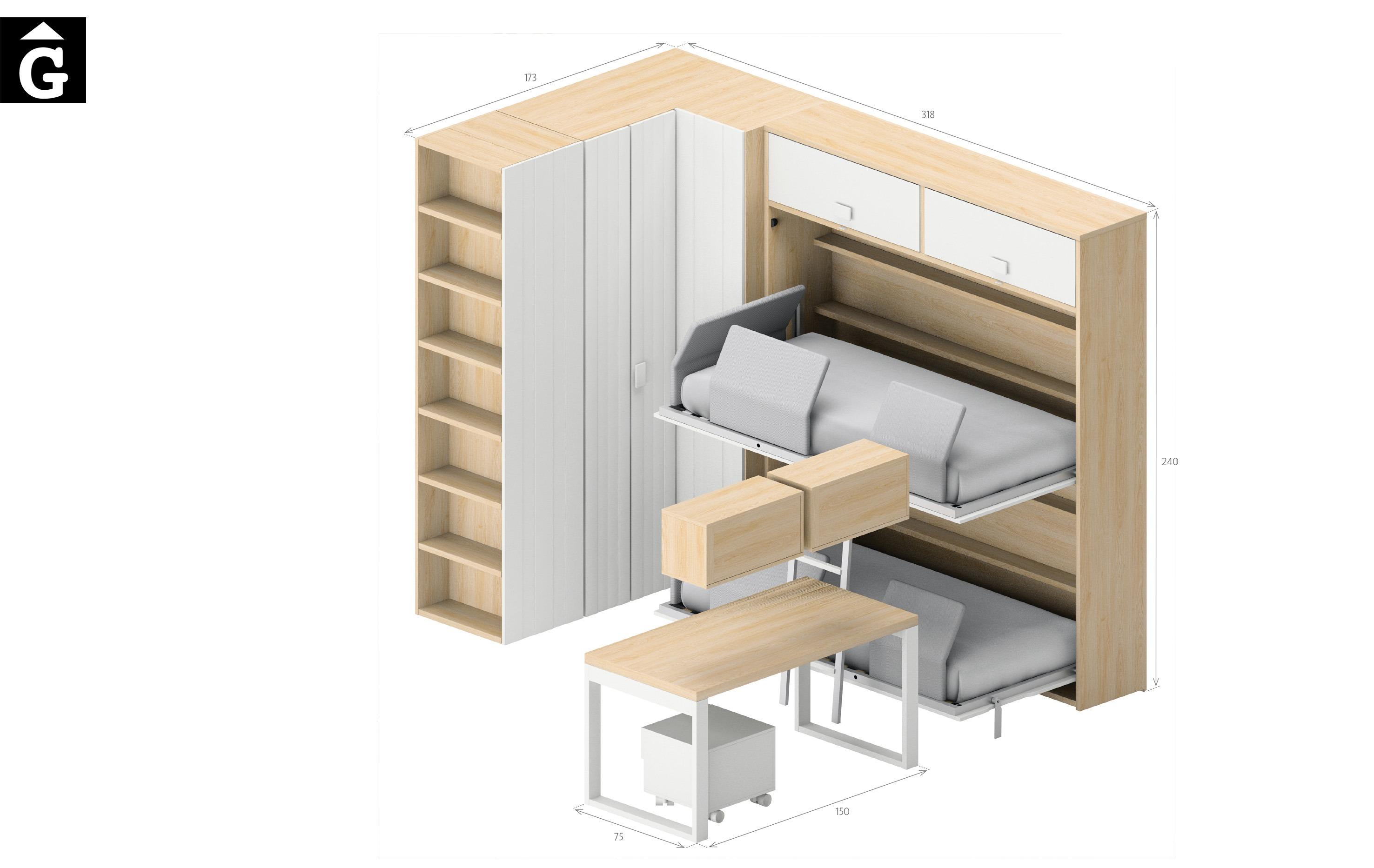 Dublin mides Lagrama habitacions juvenils by mobles Gifreu Porqueres Girona