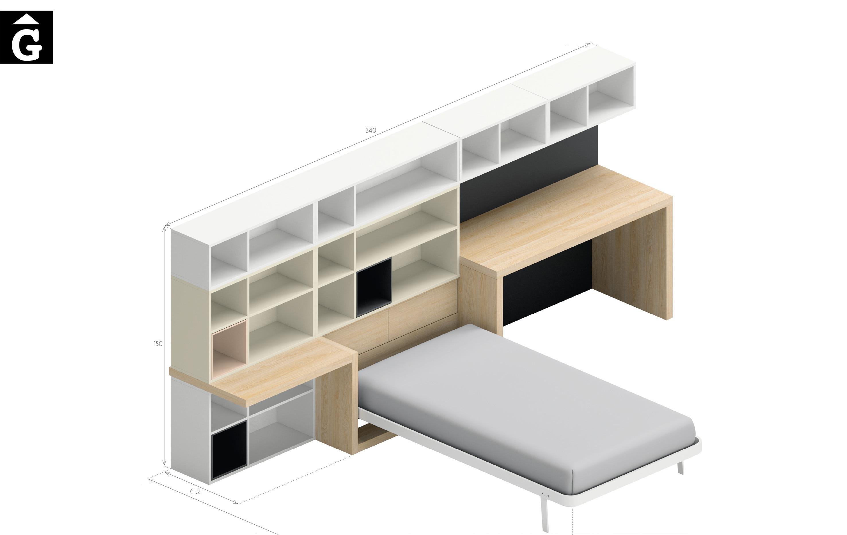 Estambul 2 Lagrama habitacions juvenils by mobles Gifreu Porqueres Girona
