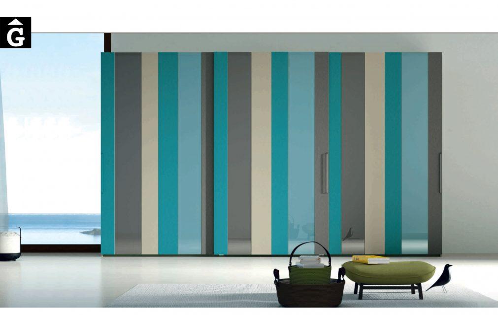 Lagrama armari porta corredera AV Cristal by Mobles GIFREU Girona modern qualitat vanguardia minim elegant atemporal
