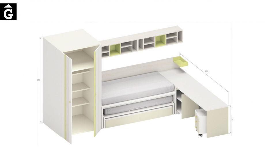 Lima Lagrama habitacions juvenils by mobles Gifreu Porqueres Girona