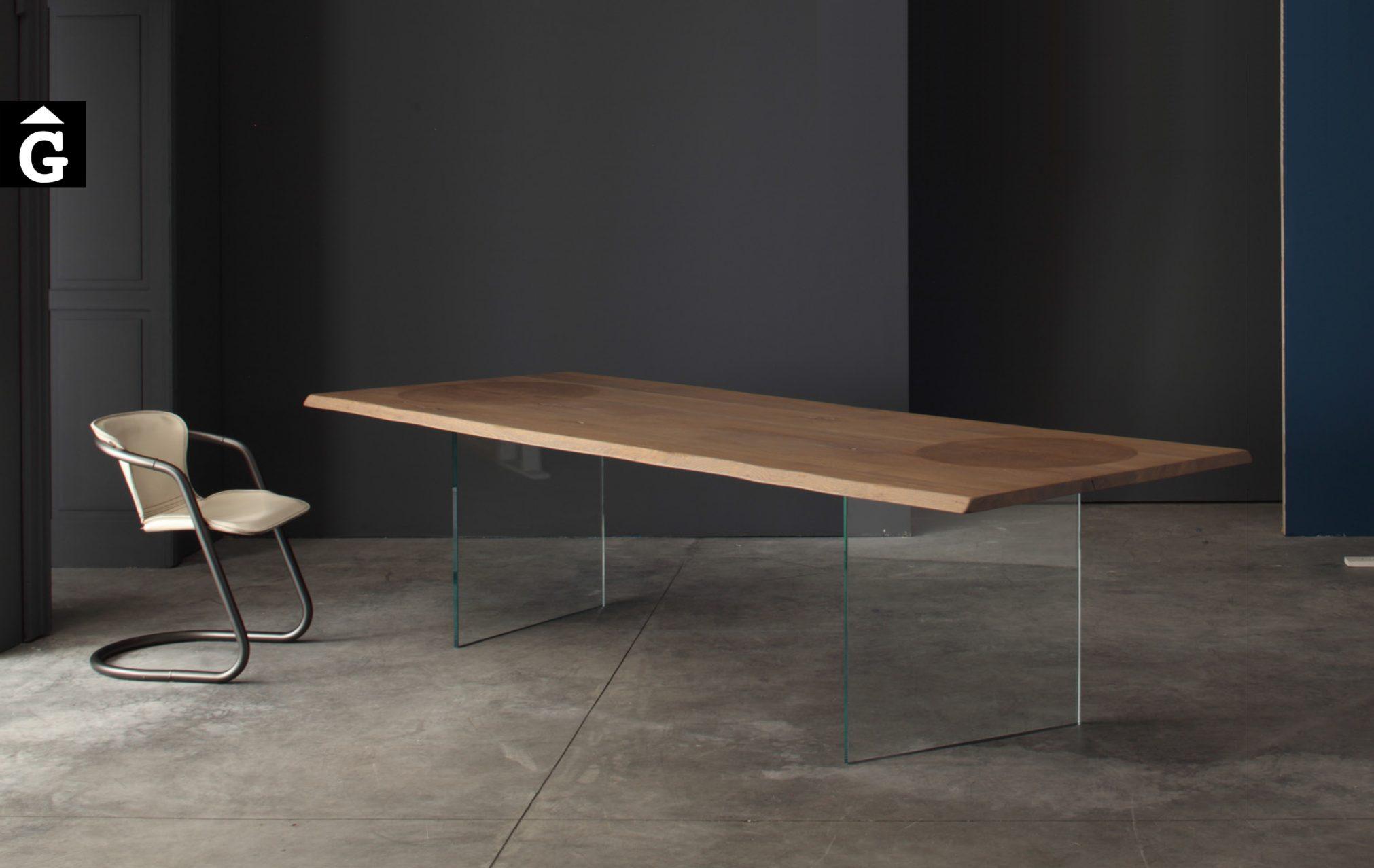 Taula fusta potes vidre Devina Nais 19 by Mobles GIFREU Girona modern qualitat vanguardia minim elegant atemporal