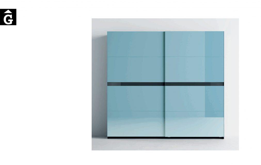 Lagrama armari 10 Porta Kandor Vidre blau by Mobles GIFREU Girona modern qualitat vanguardia minim elegant atemporal