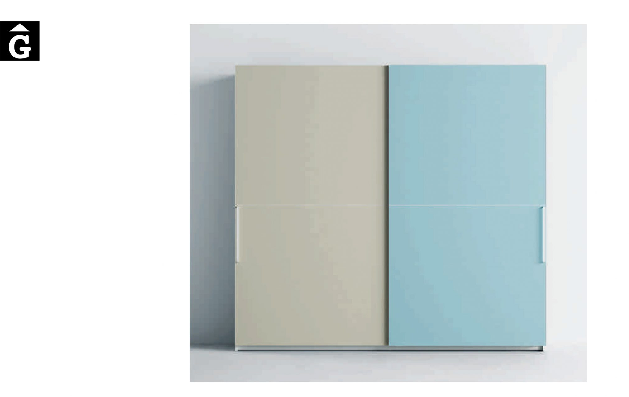 Armari Horizon Lagrama armari 2 Portes correderes Horizon by Mobles GIFREU Girona modern qualitat vanguardia minim elegant atemporal
