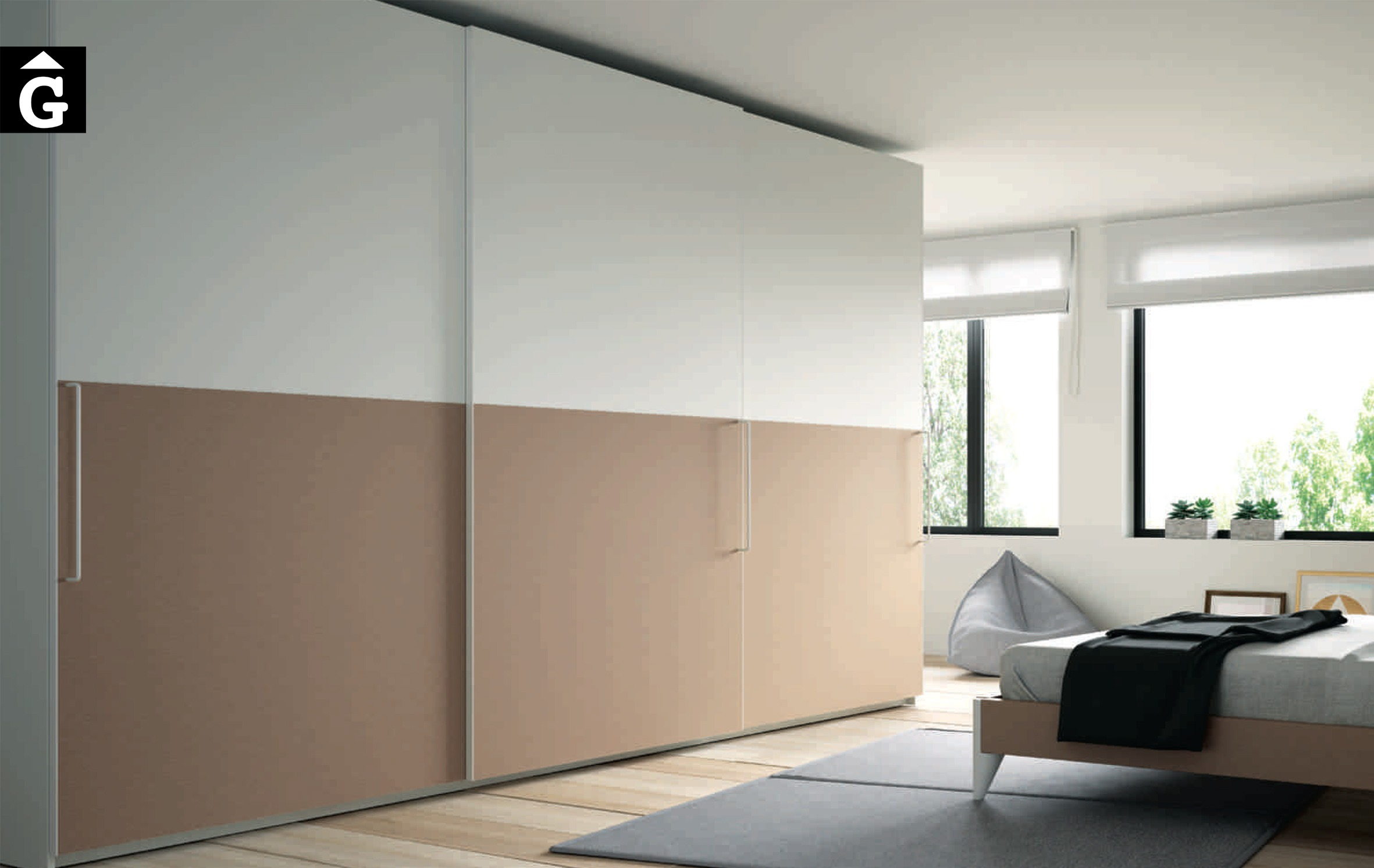 Lagrama armaris 9 3portes correderes Horizon by Mobles GIFREU Girona modern qualitat vanguardia minim elegant atemporal