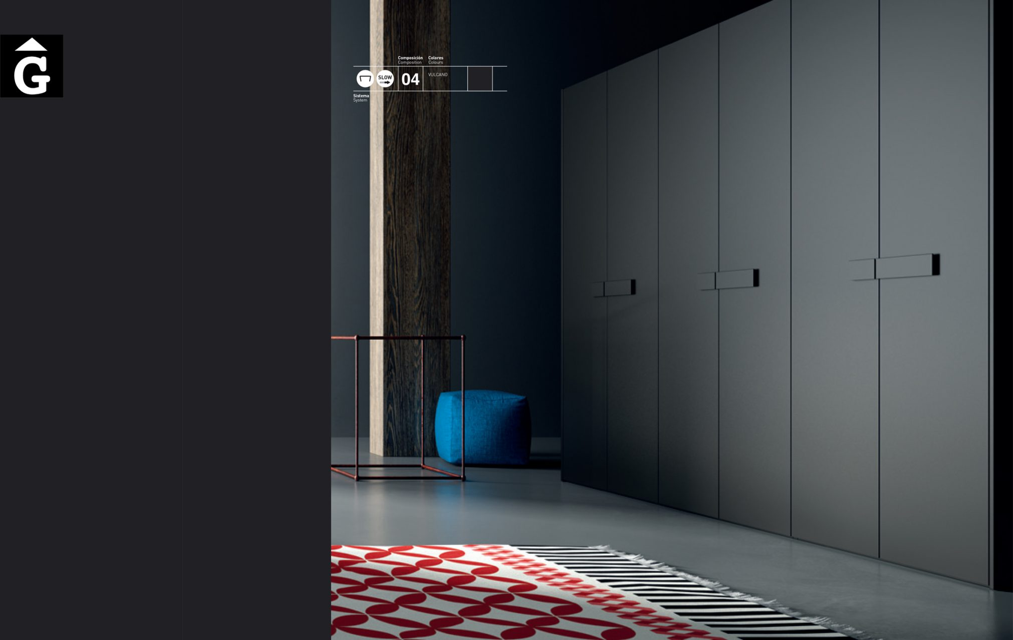 Armari negre 15 JJP NoLimits by Mobles GIFREU Girona modern minim elegant atemporal