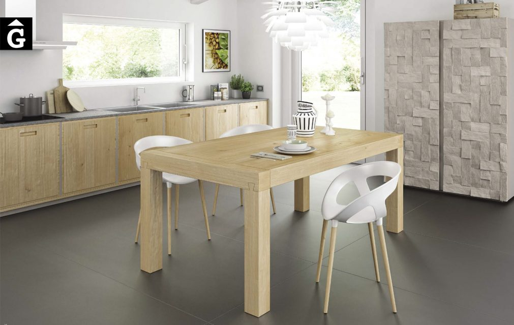 Bio Chic DomusArte by mobles Gifreu moble taules cadires massis de roure possibilitat fer a mida client