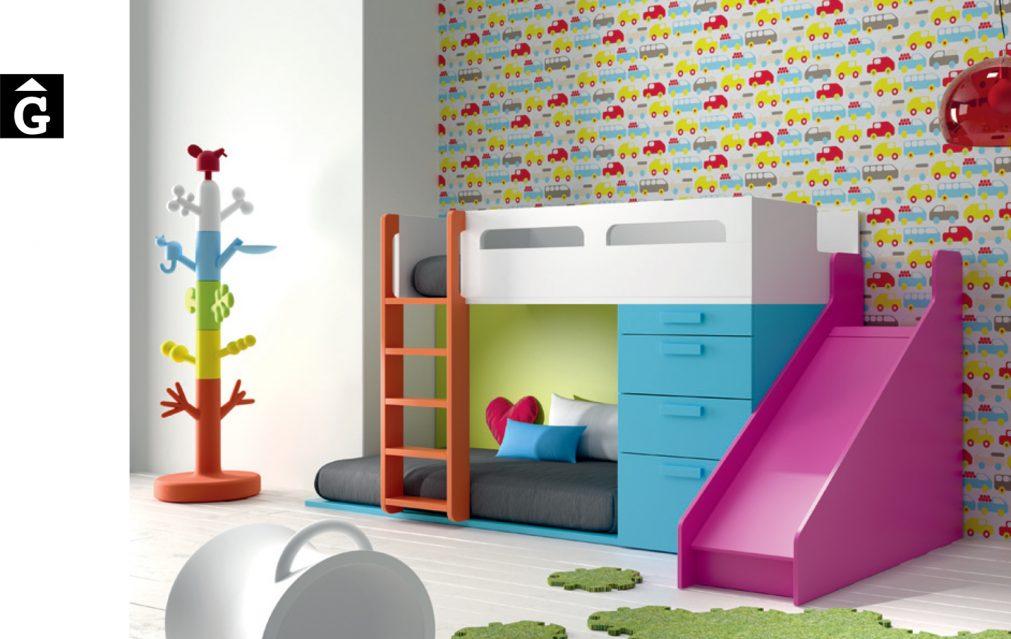 Llitera tobogan colors vius-infinity-muebles-jjp-by-mobles-gifreu-llits-de-nado-infantil-juvenil-singel-disseny-actual-qualitat