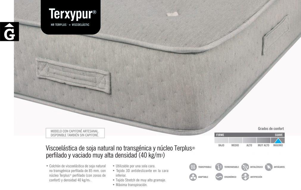 Matalàs de viscoelàstica de soja Terxypur