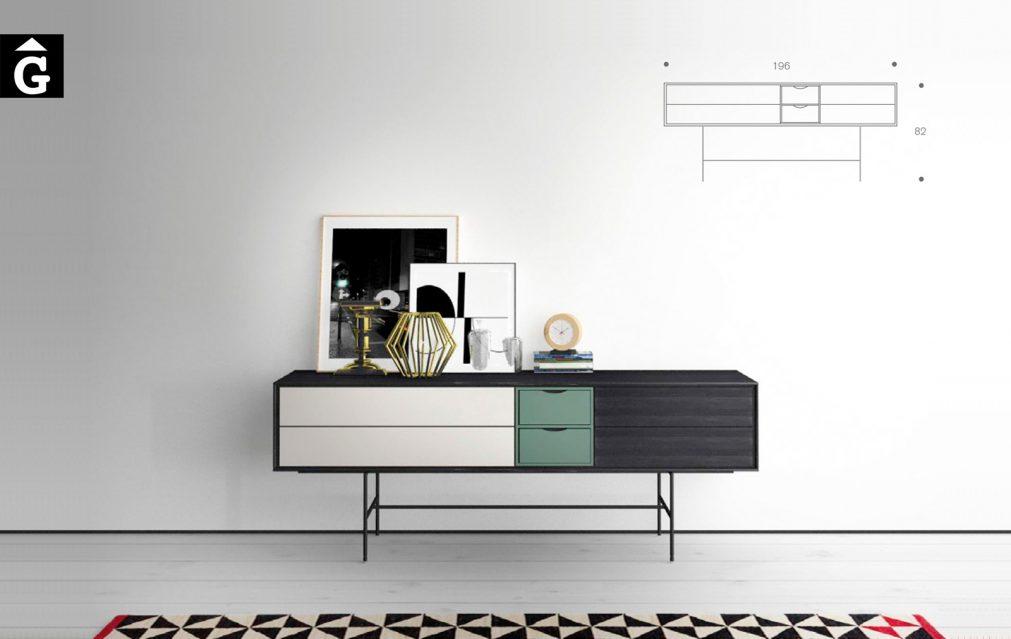 Aura Dark Musgo Blanc. Moble bufet Aura Treku by mobles Gifreu Idees per la llar moble de qualitat