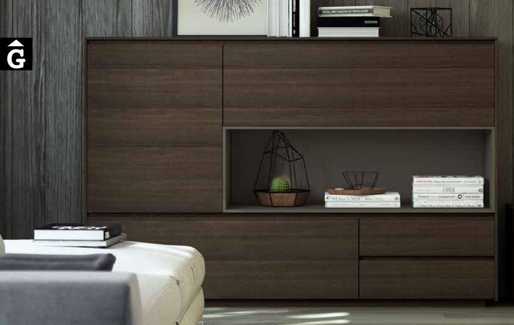 Composició moble Tv + aparador Area mobles Ciurans per mobles Gifreu programa modular disseny atemporal realitzat amb materials i ferratges de qualitat estil modern minimal