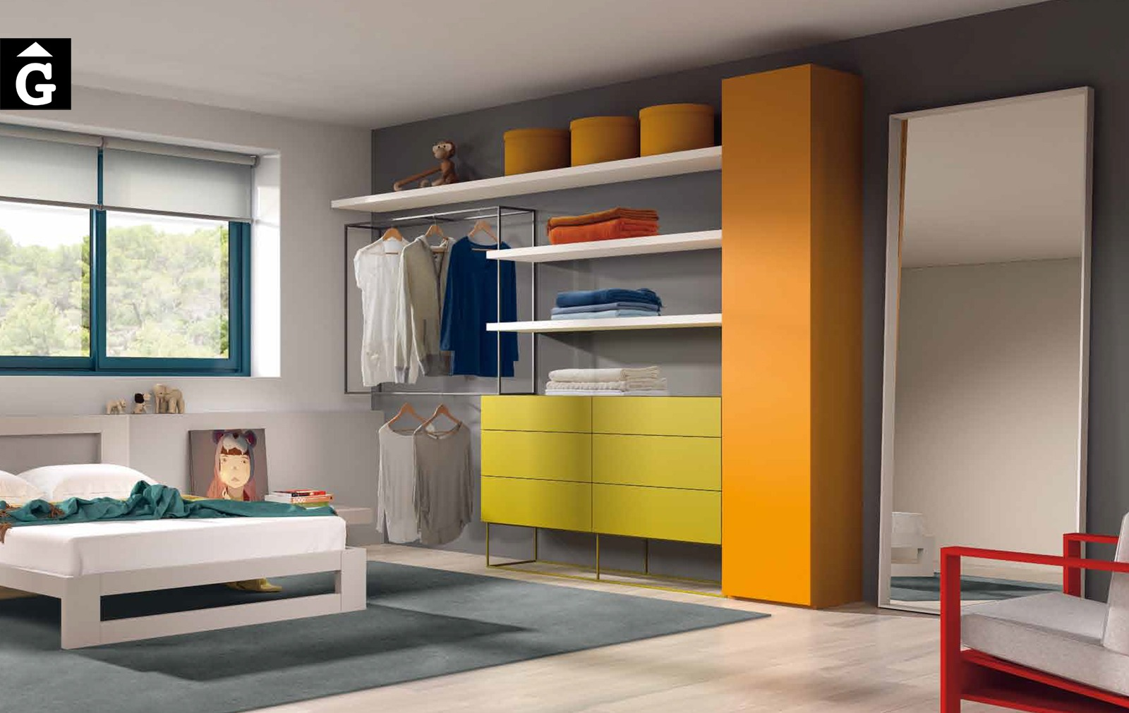 Vestidor juvenil color Besform by Mobles GIFREU Armaris Vestidors Habitcions a mida modern minim elegant atemporal
