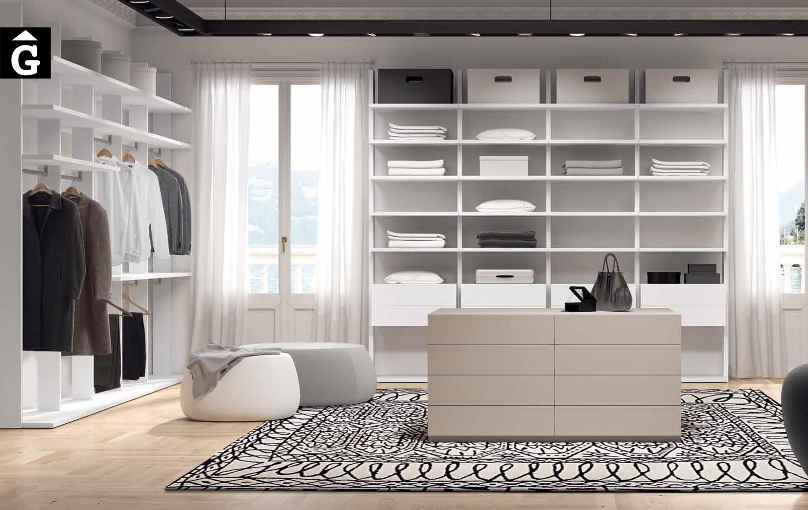Detall esquerra vestidor exclusiu Besform by Mobles GIFREU Armaris Vestidors Habitcions a mida modern minim elegant atemporal
