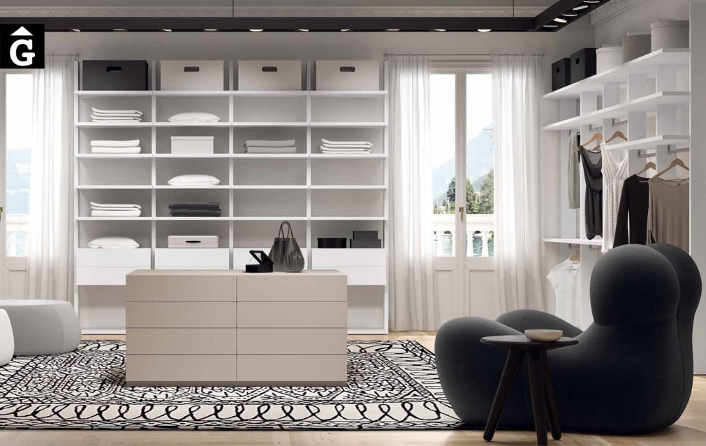 Vestidor Exclusive. Detall dret vestidor exclusiu Besform by Mobles GIFREU Armaris Vestidors Habitcions a mida modern minim elegant atemporal