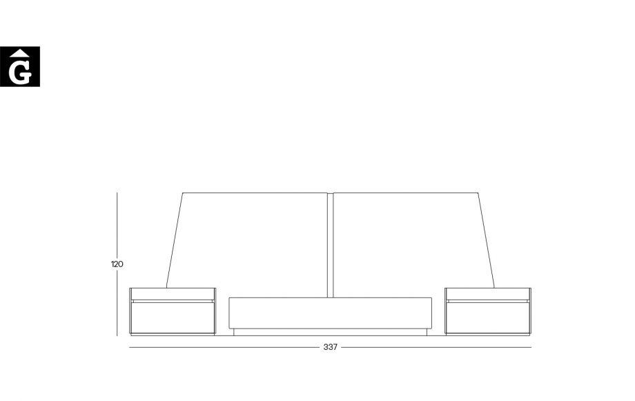 Tècnic composició moble habitació programa Area mobles Ciurans per mobles Gifreu programa modular disseny atemporal realitzat amb materials i ferratges de qualitat estil modern minimal