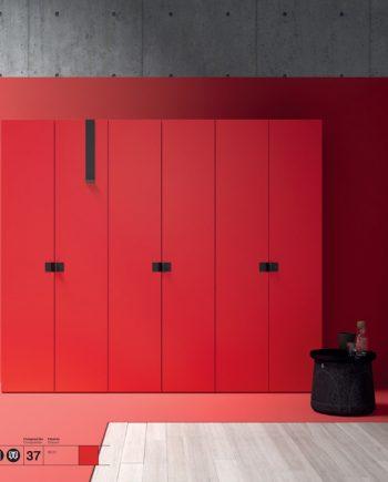 Armari vermell JJP NoLimits by Mobles GIFREU Girona Armaris a mida modern minim elegant atemporal