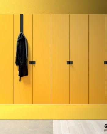 Aramari portes batents groc 0 JJP NoLimits by Mobles GIFREU Girona Armaris a mida modern minim elegant atemporal