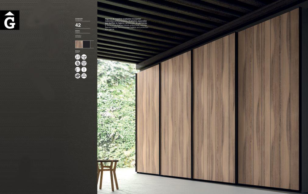 Armari rústic portes correderes JJP NoLimits by Mobles GIFREU Girona Armaris a mida modern minim elegant atemporal