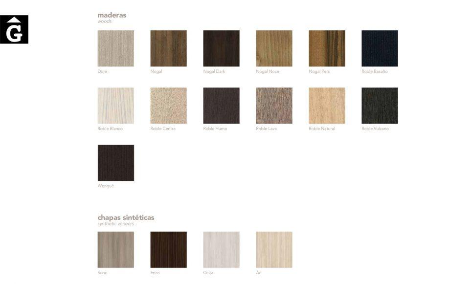 Mostrari xapes naturals i sintètiques Besform by Mobles GIFREU Armaris Vestidors Habitcions a mida modern minim elegant atemporal