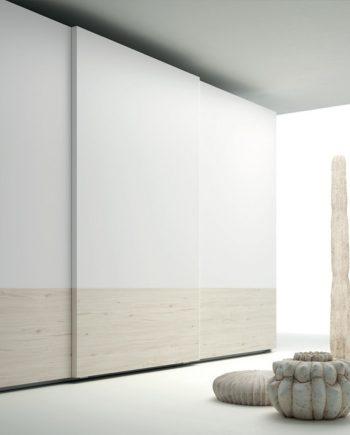 Armari Zen portes corredisses blanc i abet JJP NoLimits by Mobles GIFREU Girona Armaris a mida modern minim elegant atemporal