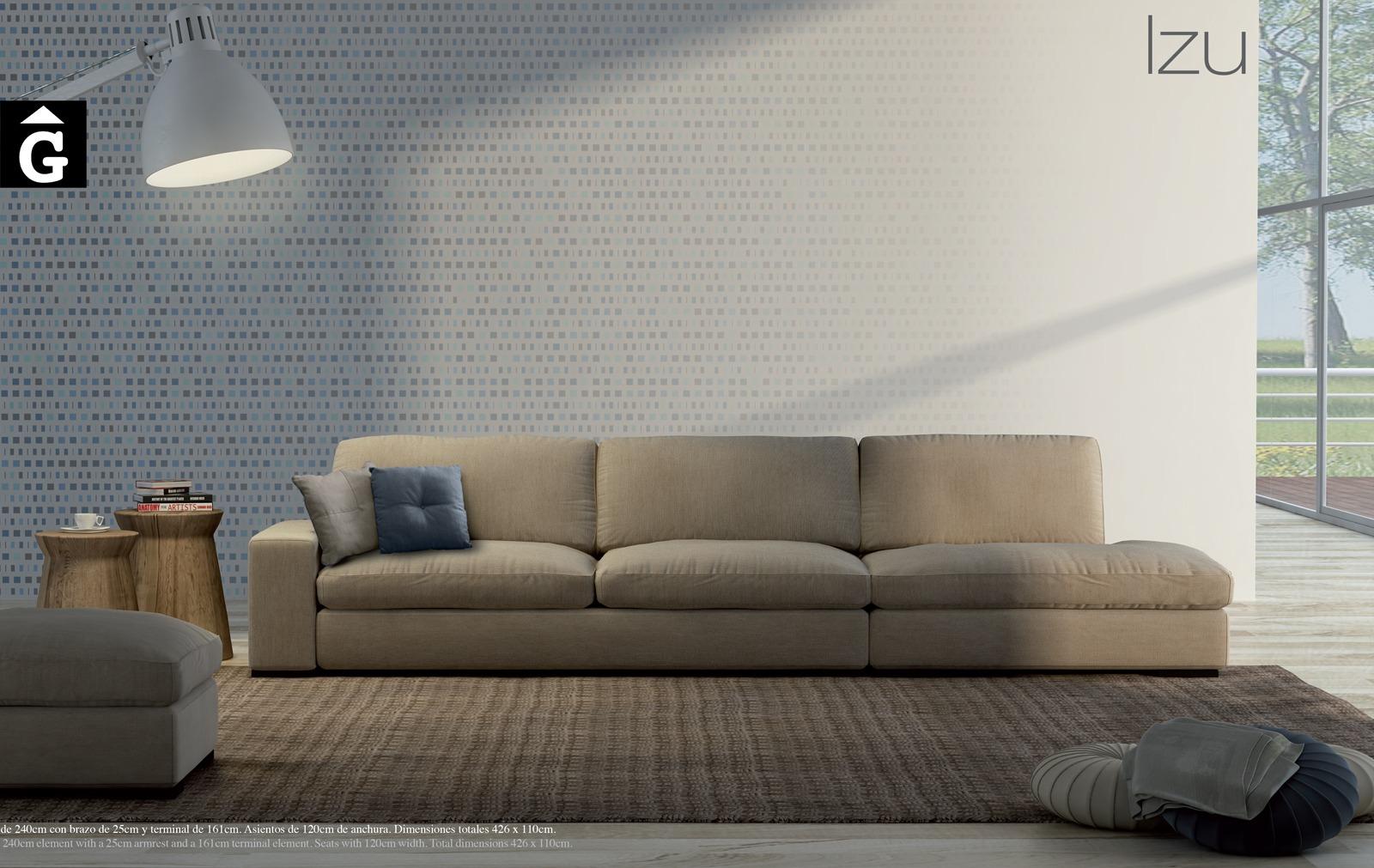 Izu Moradillo by mobles Gifreu tapisseria de qualitat sofas relax llits puff pouf chaixelongues butaques sillons