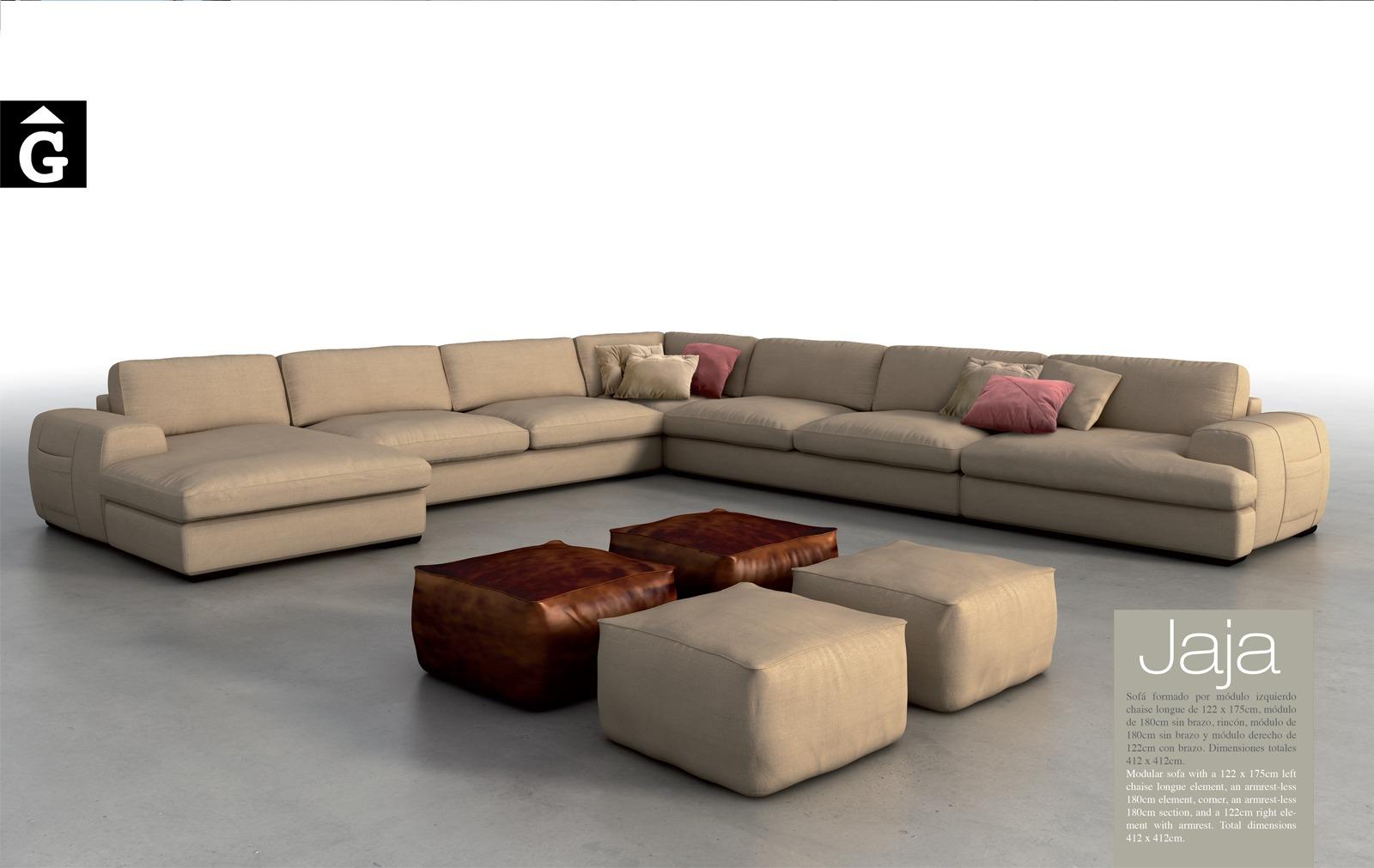 Jaja Moradillo by mobles Gifreu tapisseria de qualitat sofas relax llits puff pouf chaixelongues butaques sillons