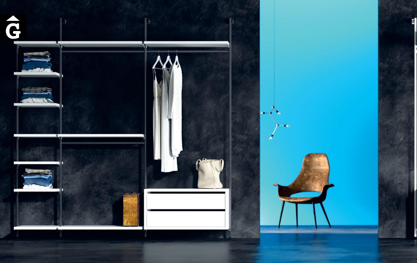 Vestidor suports metall Vulcano JJP NoLimits by Mobles GIFREU Girona Armaris a mida modern minim elegant atemporal