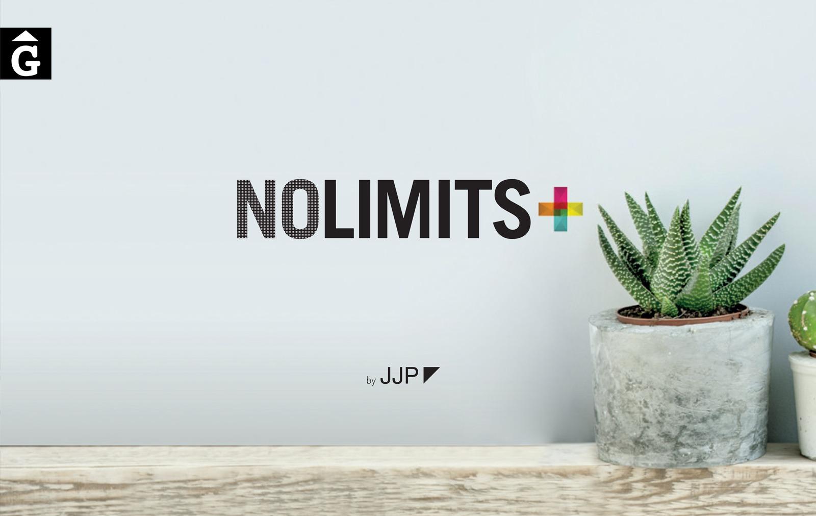 Logo JJP NoLimits by Mobles GIFREU Girona Armaris a mida modern minim elegant atemporal