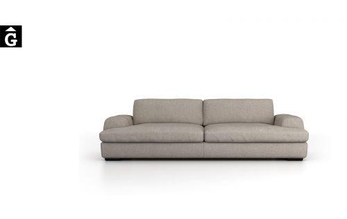 Sofà Jaja | Vista frontal | Moradillo | mobles Gifreu