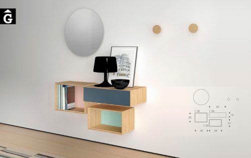 Moble Lauki penjat la paret 18 1 0 Treku by mobles Gifreu Idees per la llar moble de qualitat-Recovered