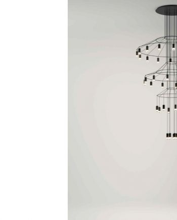 35 Wireflow Chandelier Vibia by mobles Gifreu