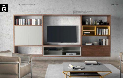 Llibreria nogal Loyra muebles by mobles Gifreu Idees per la llar moble de qualitat