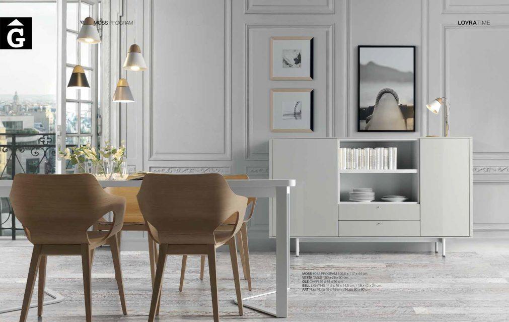 Taula Vesta cadira Olé Bufet Moss blanc Loyra muebles by mobles Gifreu Idees per la llar moble de qualitat