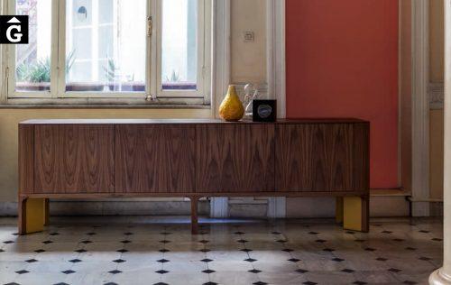 10 1 Moble bufet Acro-bat Nogal i mostassa al2 fabricant de mobles Grec distribuïdor mobles Gifreu