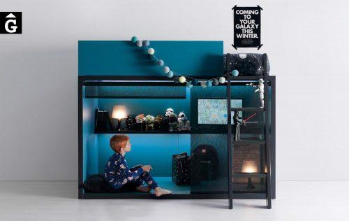 Llit espai joc QBn 4 blau Tegar by nobles GIFREU Girona modern minim elegant atemporal