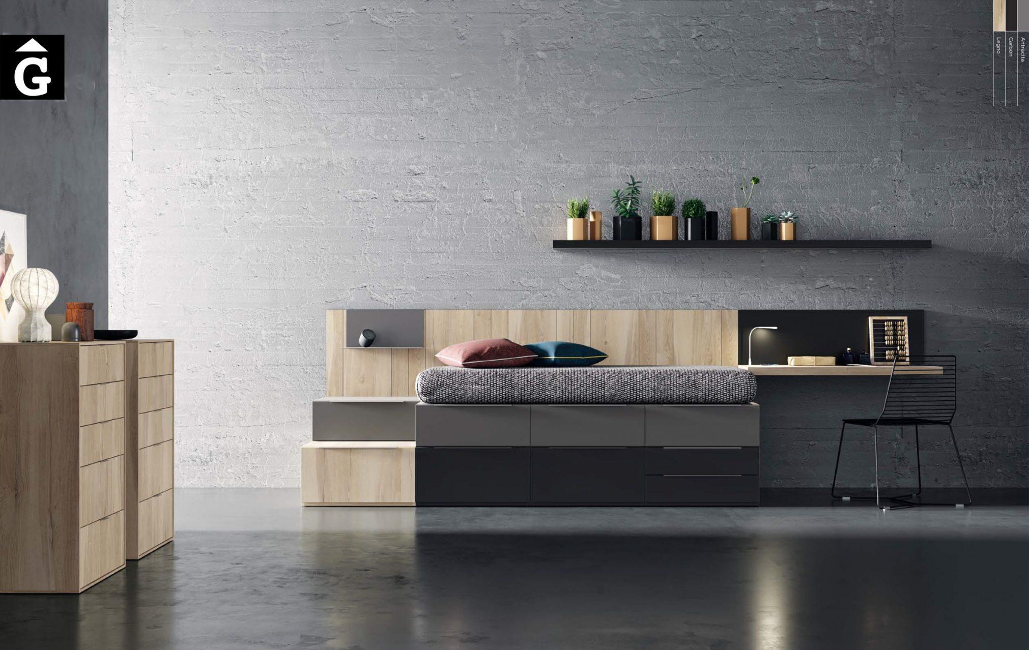 Llit calaixos QBn 8 22 Llit compacta calaixos QB NEXT Tegar by nobles GIFREU Girona modern minim elegant atemporal