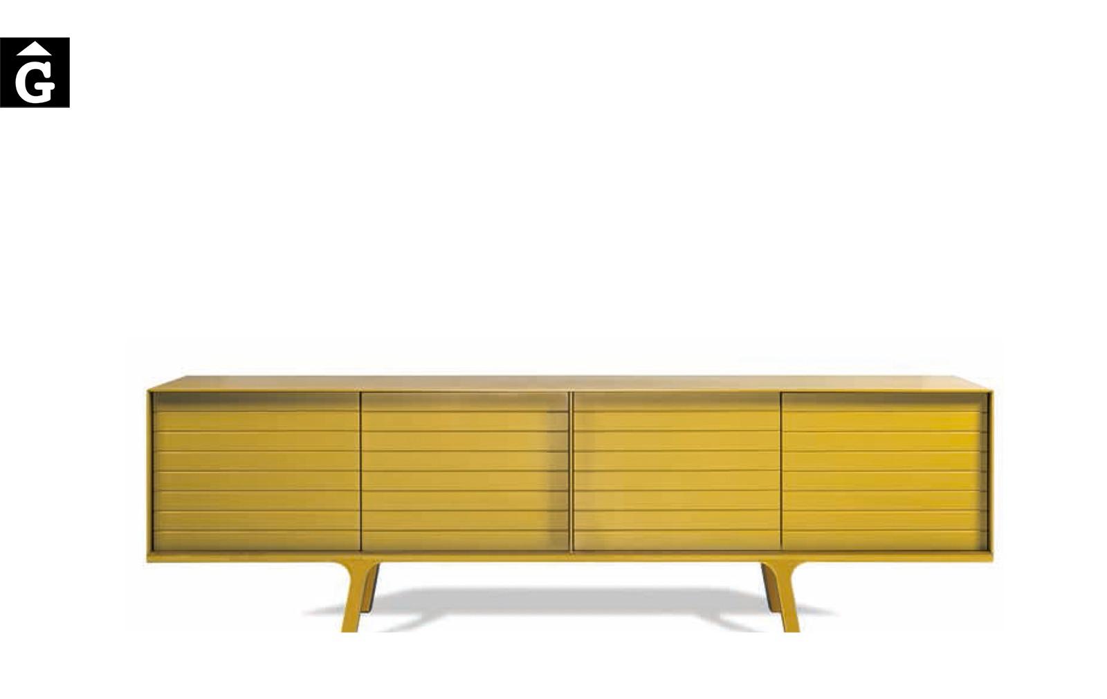 24 2 Moble aparador bufet MOBIUS groc al2 fabricant de mobles Grec distribuïdor mobles Gifreu