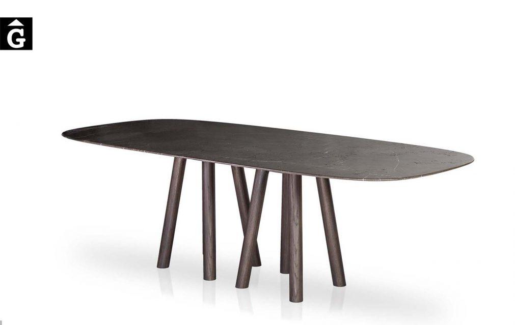 27 4 Taula Mos-i-ko potes fusta sobre marbre fosc al2 fabricant de mobles Grec distribuïdor mobles Gifreu