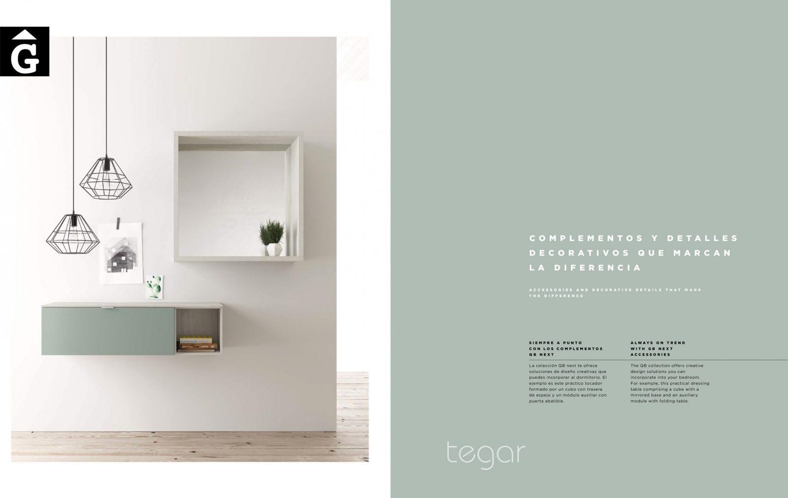 27 Complements QB NEXT Tegar by nobles GIFREU Girona modern minim elegant atemporal