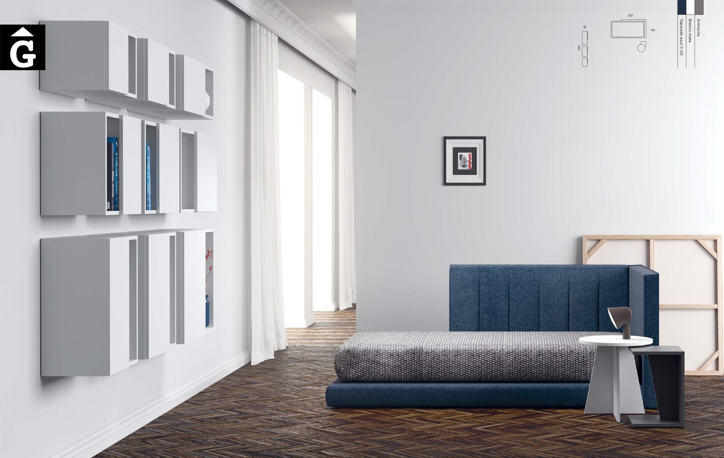 Llit Tatami tapissat QB NEXT Tegar by nobles GIFREU Girona modern minim elegant atemporal