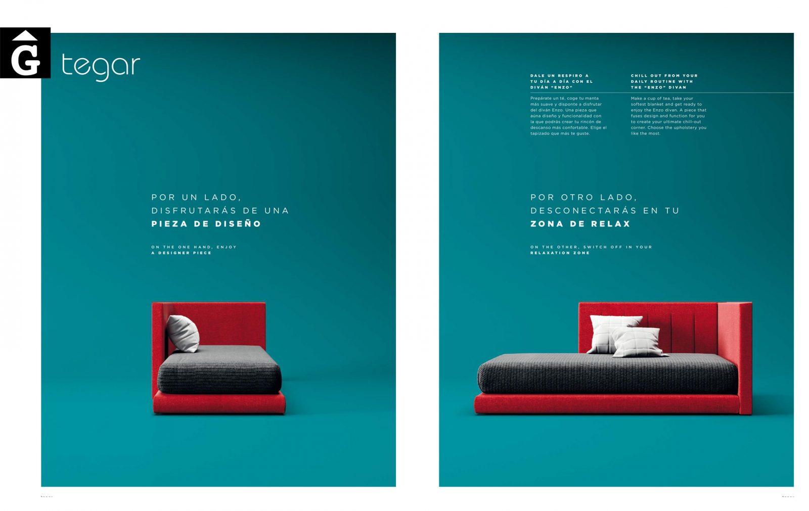 Llit tatami tapissat vermell QB NEXT Tegar by nobles GIFREU Girona modern minim elegant atemporal