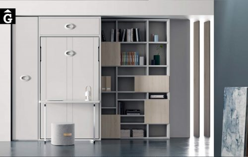 Habitació amb llit abatible. Dia QB NEXT Tegar by nobles GIFREU Girona modern minim elegant atemporal