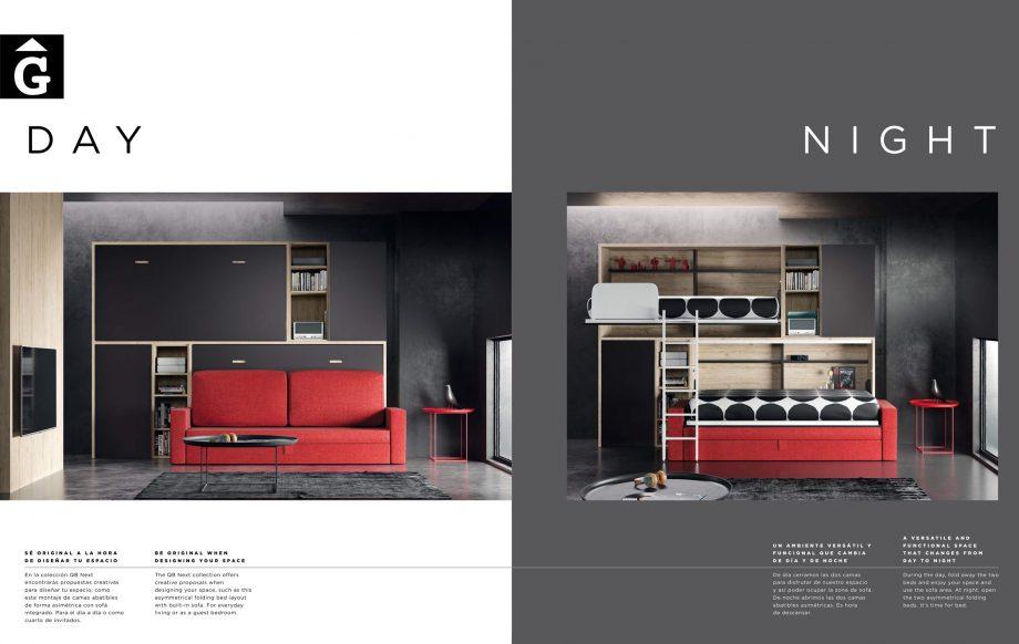 Sofà amb armaris llitera plegable QB NEXT Tegar by nobles GIFREU Girona modern minim elegant atemporal