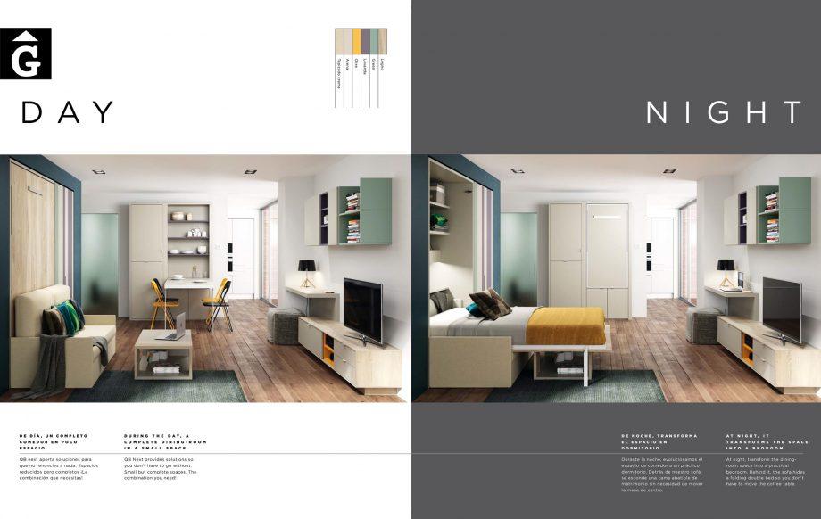 Dia i nit Sala estar habitació llit gran QB NEXT Tegar by nobles GIFREU Girona modern minim elegant atemporal