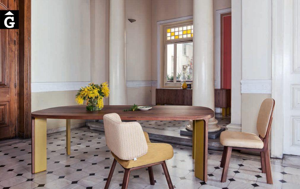 Taula acro-bat mostaza al2 fabricant de mobles Grec distribuïdor mobles Gifreu