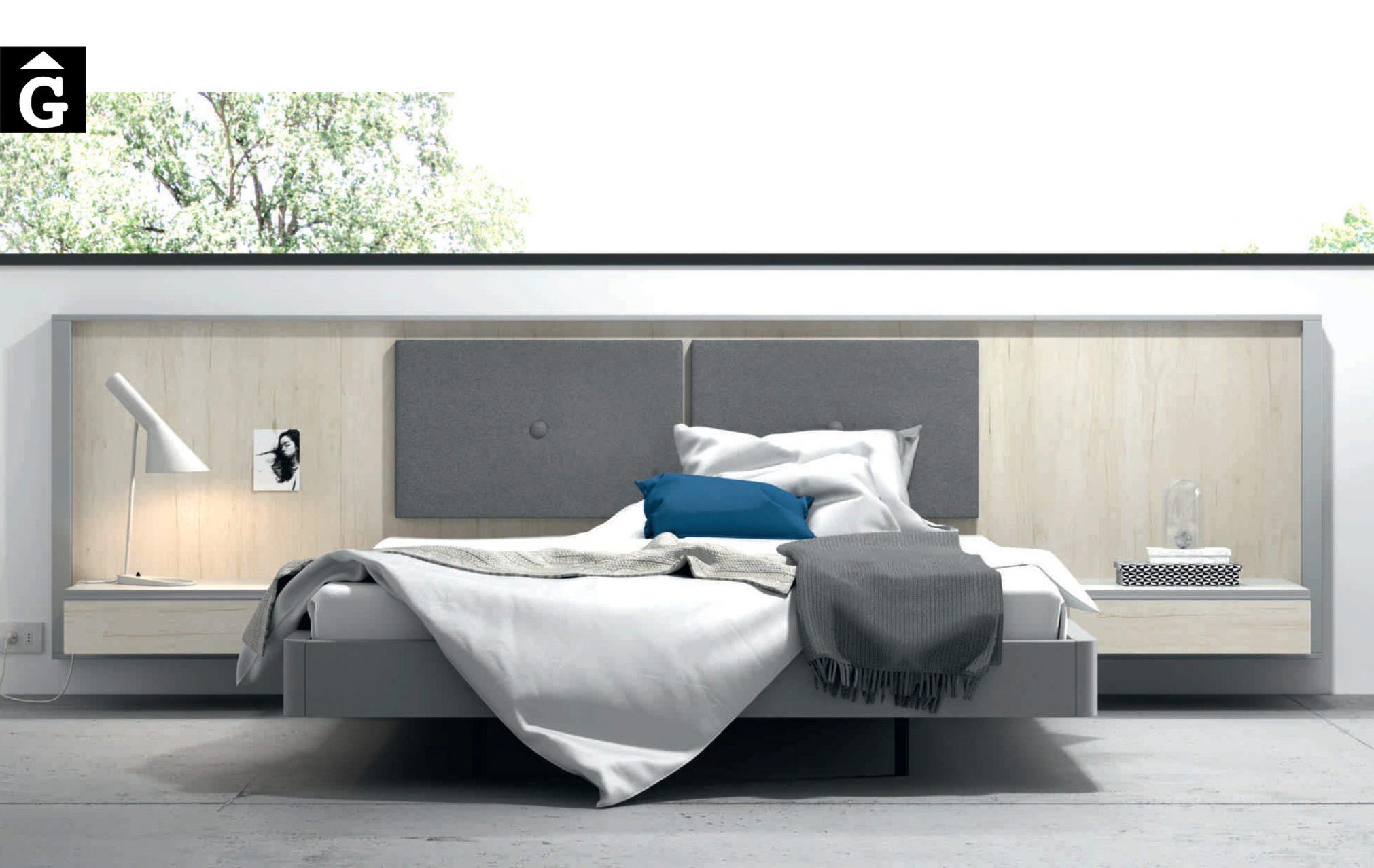 Homage tapissat Lagrama Habitació llit gran Lagrama